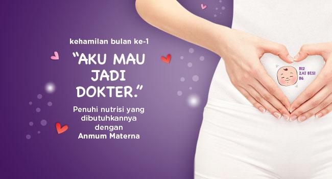 Perkembangan Kehamilan Bulan 1 Anmum Indonesia