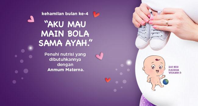 Perkembangan Kehamilan Bulan 4 Anmum Indonesia